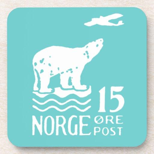 Oso polar noruego 1925 posavaso