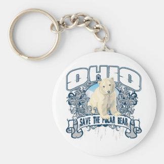 Oso polar Ohio Llavero Redondo Tipo Pin