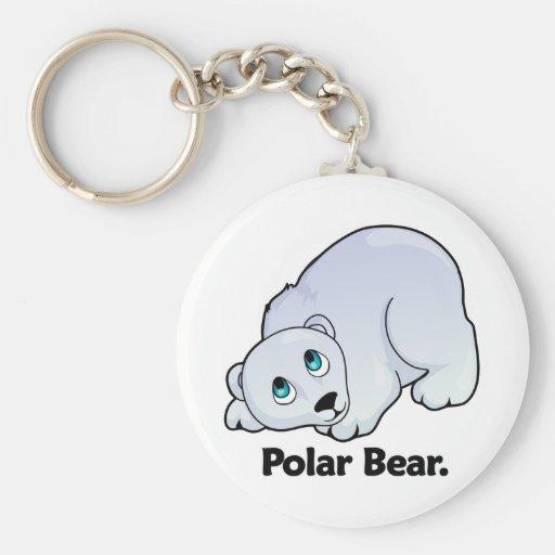 Oso polar. Oso polar Llavero Redondo Tipo Pin
