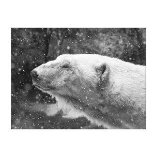 Oso polar pacífico impresión en tela