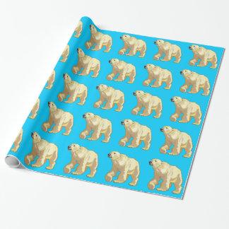 oso polar papel de regalo