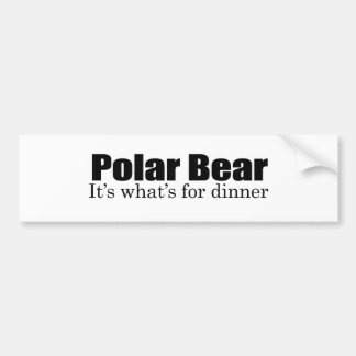 Oso polar para la cena pegatina para auto