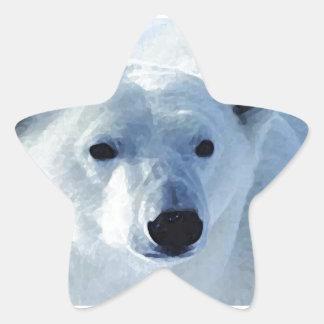 Oso polar calcomanía cuadrada personalizada