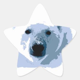 Oso polar pegatina forma de estrella