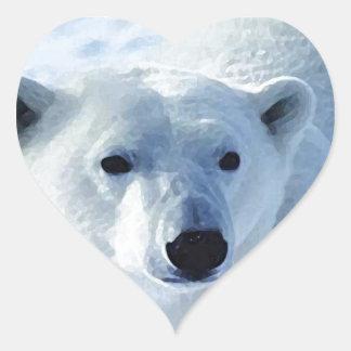 Oso polar colcomanias de corazon