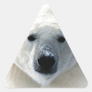 Oso polar pegatinas trianguladas personalizadas