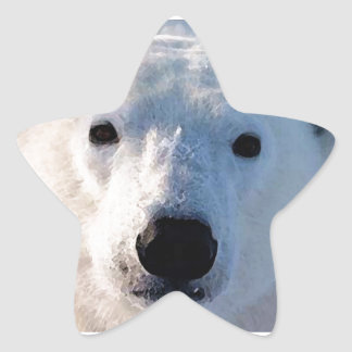 Oso polar calcomanías forma de estrellaes
