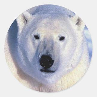 Oso polar pegatinas redondas