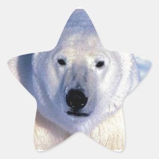 Oso polar pegatina en forma de estrella