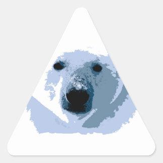 Oso polar pegatina triangular