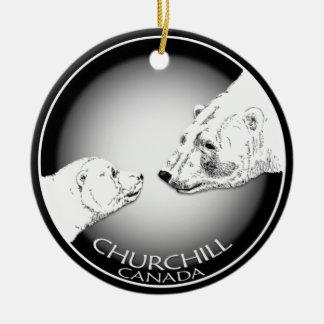 Oso polar personalizado ornamento Souveni de Adorno Navideño Redondo De Cerámica