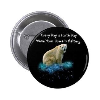 Oso polar pin redondo 5 cm