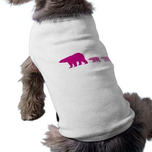 Oso polar púrpura camisetas de mascota