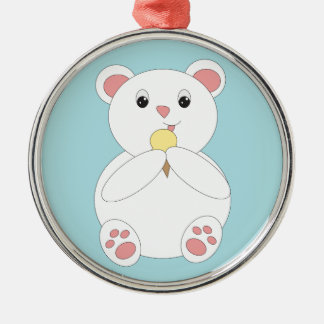 Oso polar que come el helado ornaments para arbol de navidad