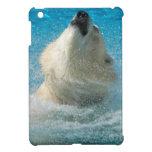 Oso polar que toma una nadada iPad mini cárcasas