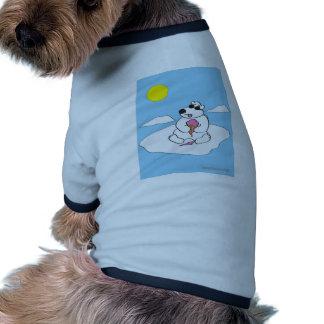 Oso polar camisa de mascota