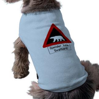 Oso polar, señal de tráfico, Noruega Prenda Mascota