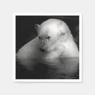 Oso polar servilleta desechable