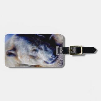 Oso polar soñador etiqueta para equipaje