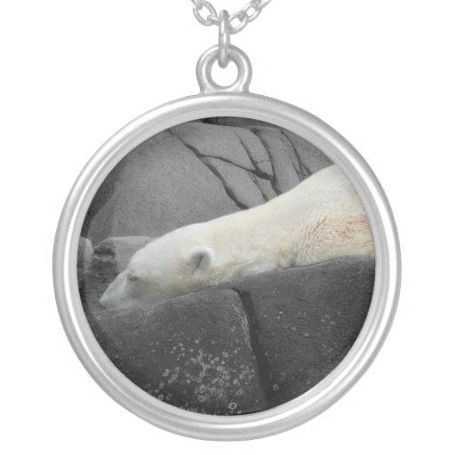 Oso polar soñoliento grimpolas personalizadas