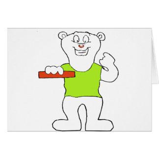 Oso polar sonriente del dibujo animado tarjeta de felicitación