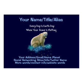 Oso polar tarjetas de visita grandes