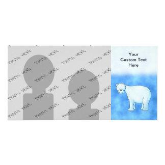 Oso polar tarjeta fotografica personalizada