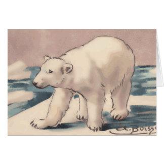 Oso polar tarjeta pequeña