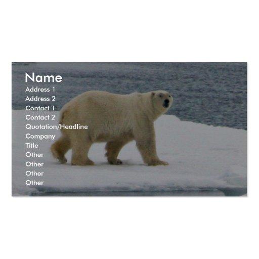 Oso polar tarjetas de visita