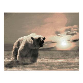 oso polar tarjetas publicitarias