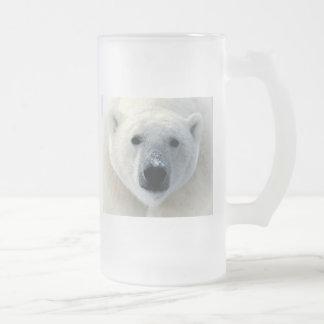 Oso polar taza cristal mate
