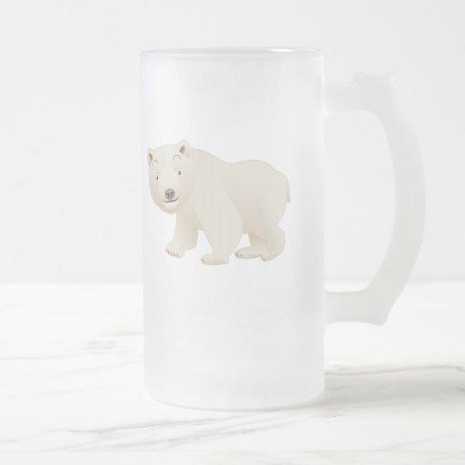 Oso polar taza de cristal