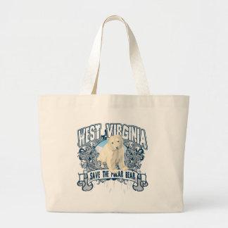 Oso polar Virginia Occidental Bolsas De Mano