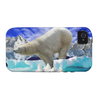 Oso polar y caso ártico del iPhone 4 del hielo