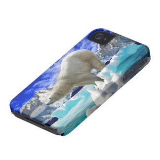 Oso polar y caso ártico del iPhone 4 del hielo Case-Mate iPhone 4 Cárcasas