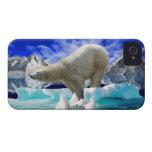 Oso polar y caso ártico del iPhone 4 del hielo iPhone 4 Case-Mate Fundas