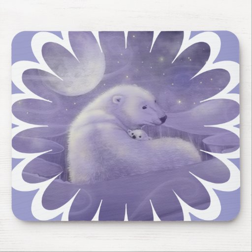 Oso polar y Cub Mouse Pads