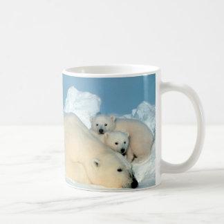 Oso polar y Cubs de Steve Amstrup Taza De Café
