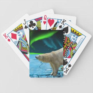 Oso polar y diseñador ártico del arte de la fauna barajas de cartas