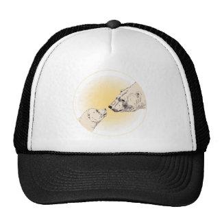 Oso polar y gorra del arte de la fauna de los casq