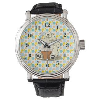 oso polar y helado relojes de pulsera