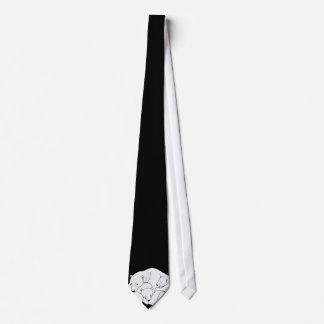 Oso polar y lazo/corbata del arte de la fauna de l corbata personalizada