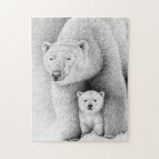 Oso polar y rompecabezas de Cub