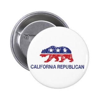 Oso político republicano de California apenado Pin Redondo De 2 Pulgadas