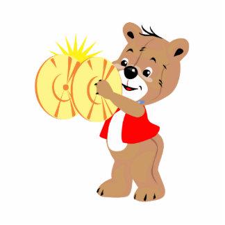 oso que toca los platillos shirt.png rojo escultura fotográfica
