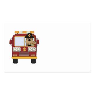 Oso rojo del coche de bomberos