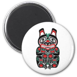 Oso rojo y verde del alcohol del Haida Imán Redondo 5 Cm