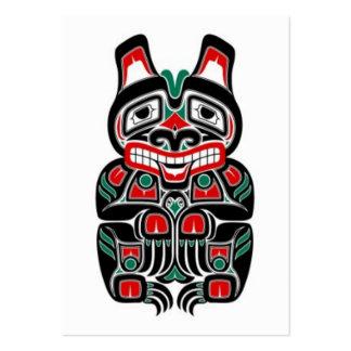 Oso rojo y verde del alcohol del Haida Plantillas De Tarjetas De Visita