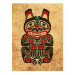 Oso rojo y verde del vintage del Haida del alcohol Tarjeta Postal