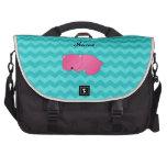 Oso rosado conocido personalizado bolsas de portátil